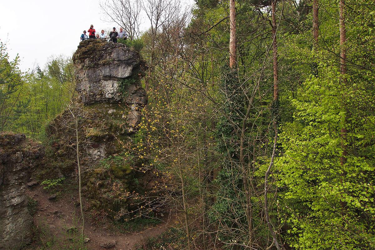 2015 DAV Suhl Höhlenwanderung Fränkische Schweiz Adlerstein (Foto: Andreas Kuhrt)