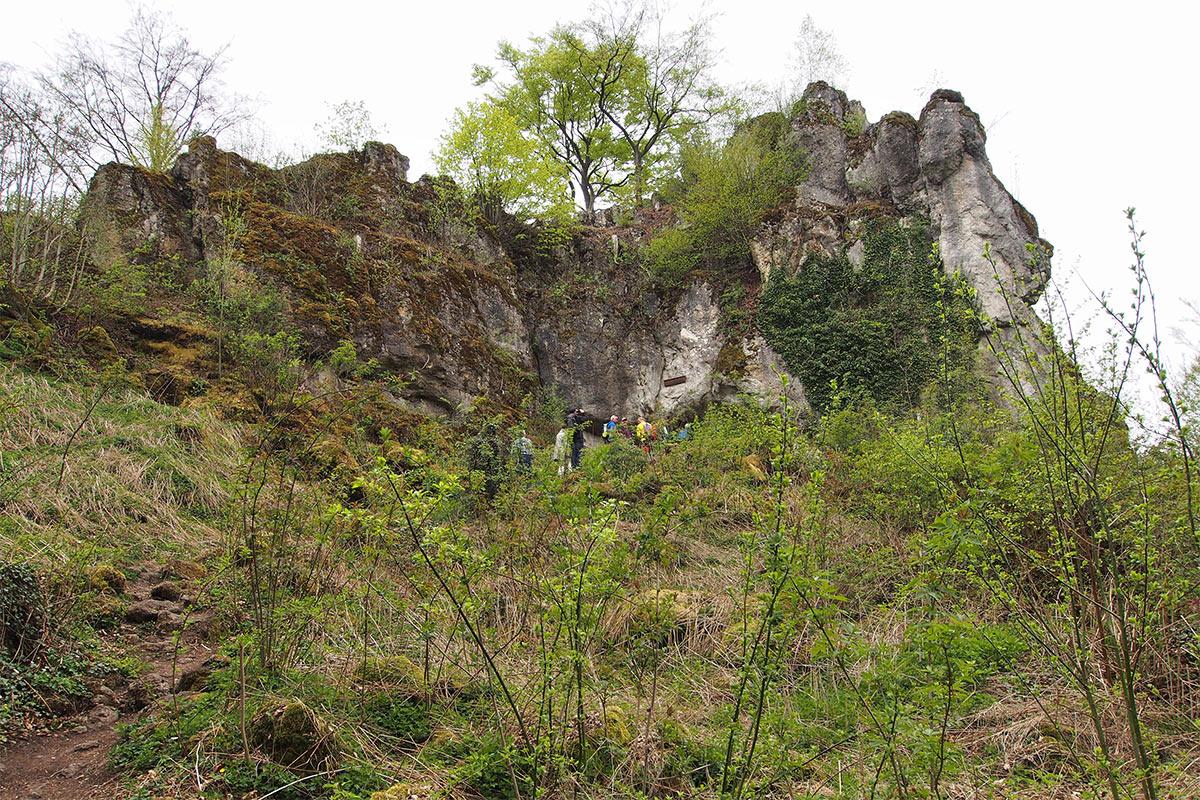 2015 DAV Suhl Höhlenwanderung Fränkische Schweiz Quakenschloss (Foto: Andreas Kuhrt)