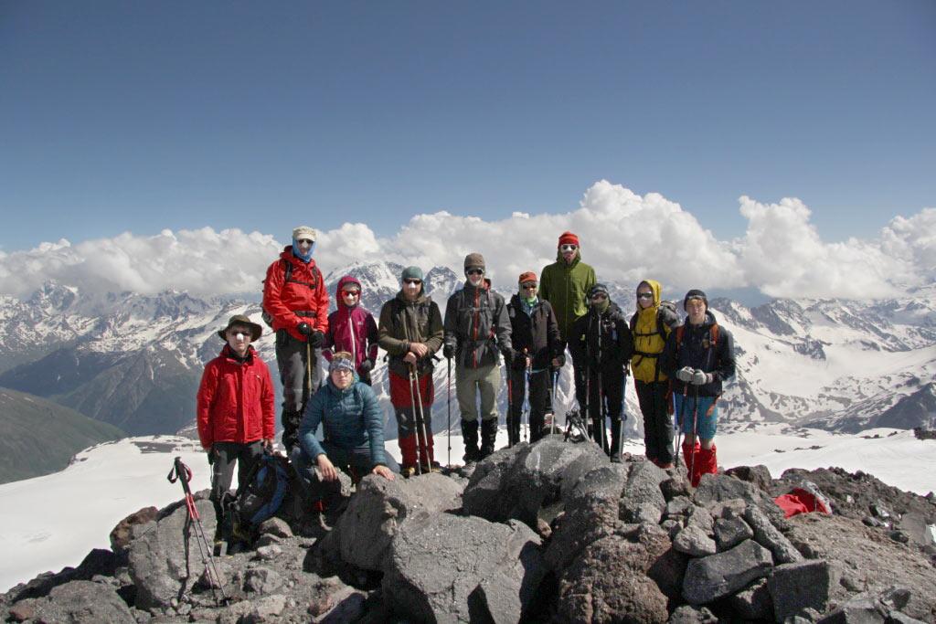Am Elbrus . JDAV Suhl Kaukasus 2016 (Foto: Tristan Lemme)
