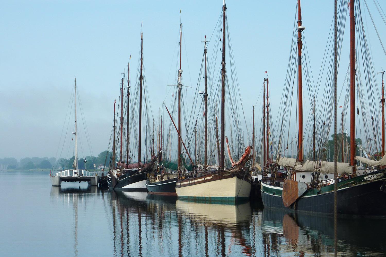 Im Hafen von Kappeln an der Schlei . Segeln Dänische Südsee 2016 (Foto: Udo Geyersbach)