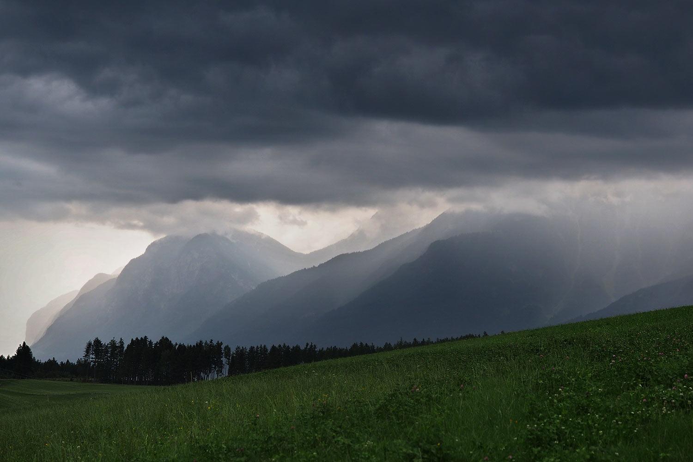 Blick von Rinn zum westlichen Karwendel (Foto: Andreas Kuhrt 2017)