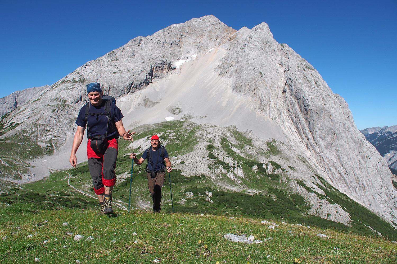 Aufstieg zur Speckkarspitze (Robert, Udo) . Karwendel (Foto: Andreas Kuhrt 2017)