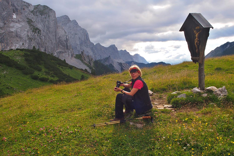 Manuela am Überschalljoch . Karwendel (Foto: Andreas Kuhrt 2017)