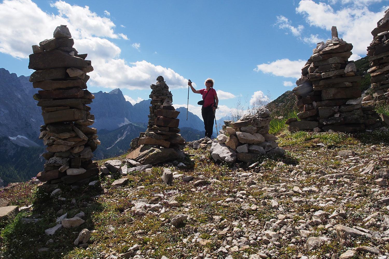 Manuela beim Aufstieg zur Sunntigerspitze (2321 m) . Karwendel (Foto: Andreas Kuhrt 2017)
