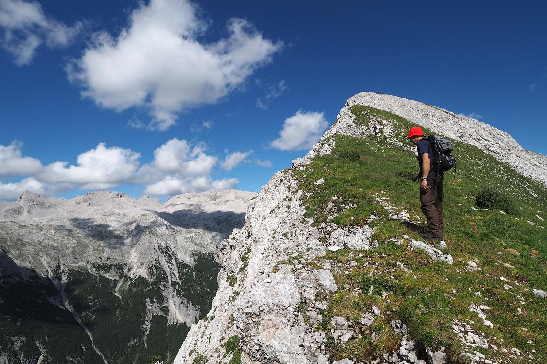 Udo beim Aufstieg zur Sunntigerspitze (2321 m) . Karwendel (Foto: Manuela Hahnebach 2017)