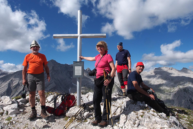 Auf der Sunntigerspitze (2321 m) . Karwendel (Foto: Andreas Kuhrt 2017)