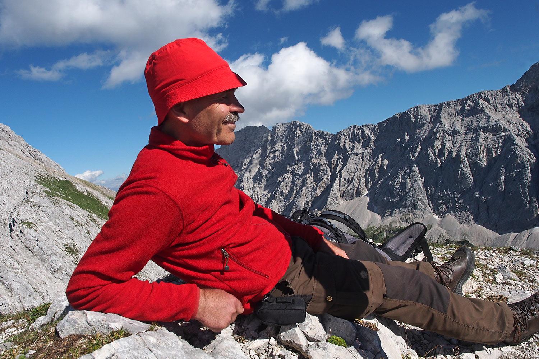 Udo auf der Sunntigerspitze (2321 m) . Karwendel (Foto: Andreas Kuhrt 2017)