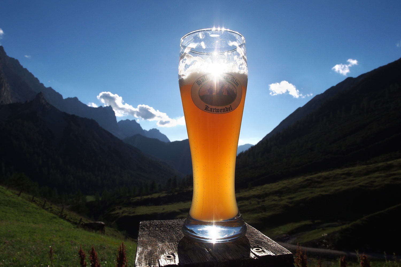 Hallerangeralm-Bier . Karwendel (Foto: Andreas Kuhrt 2017)