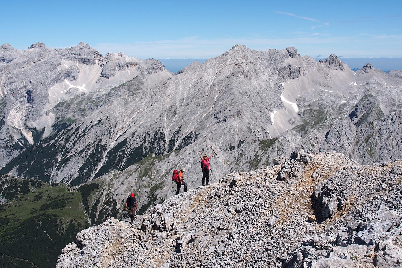 Aufstieg zur Speckkarspitze (2621 m) . Karwendel (Foto: Andreas Kuhrt 2017)