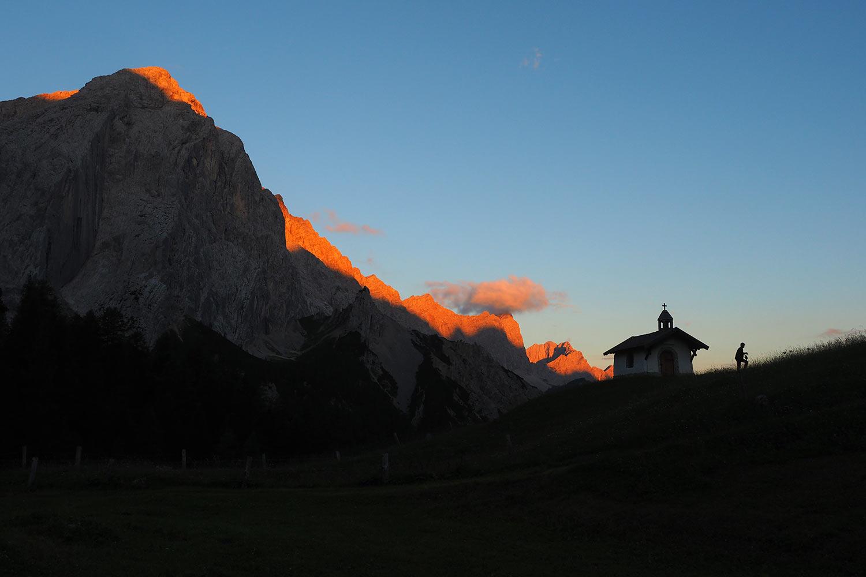 Kapelle an der Hallerangeralm . Karwendel (Foto: Manuela Hahnebach 2017)