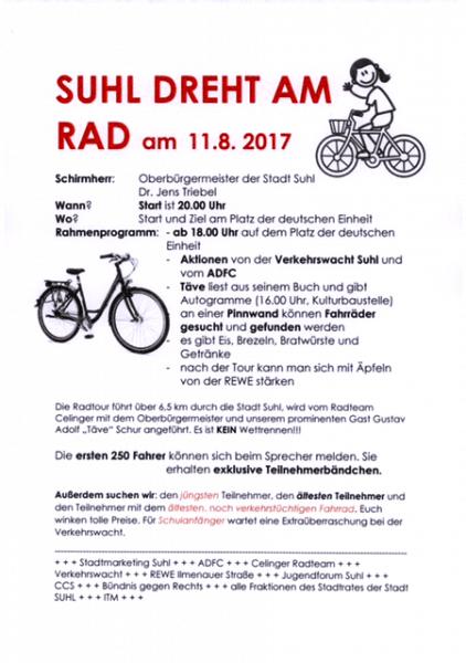 Suhl dreht am Rad . 11.08.2017 . Info