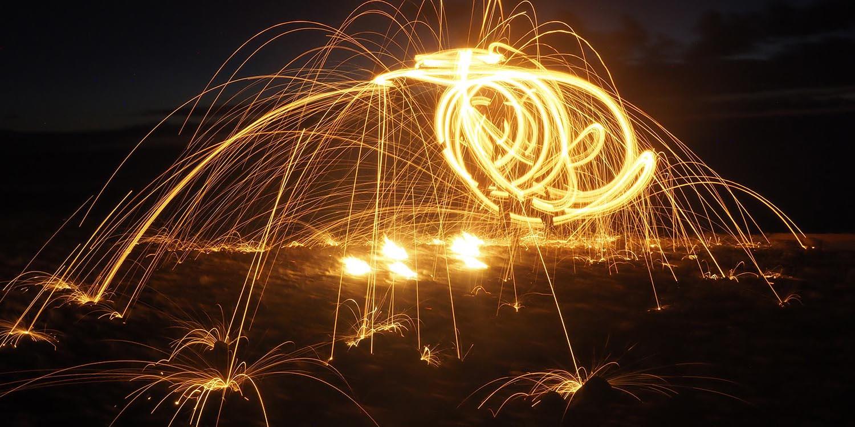 Feuertanz . Am Strand von La Gomera (Foto: Andreas Kuhrt)