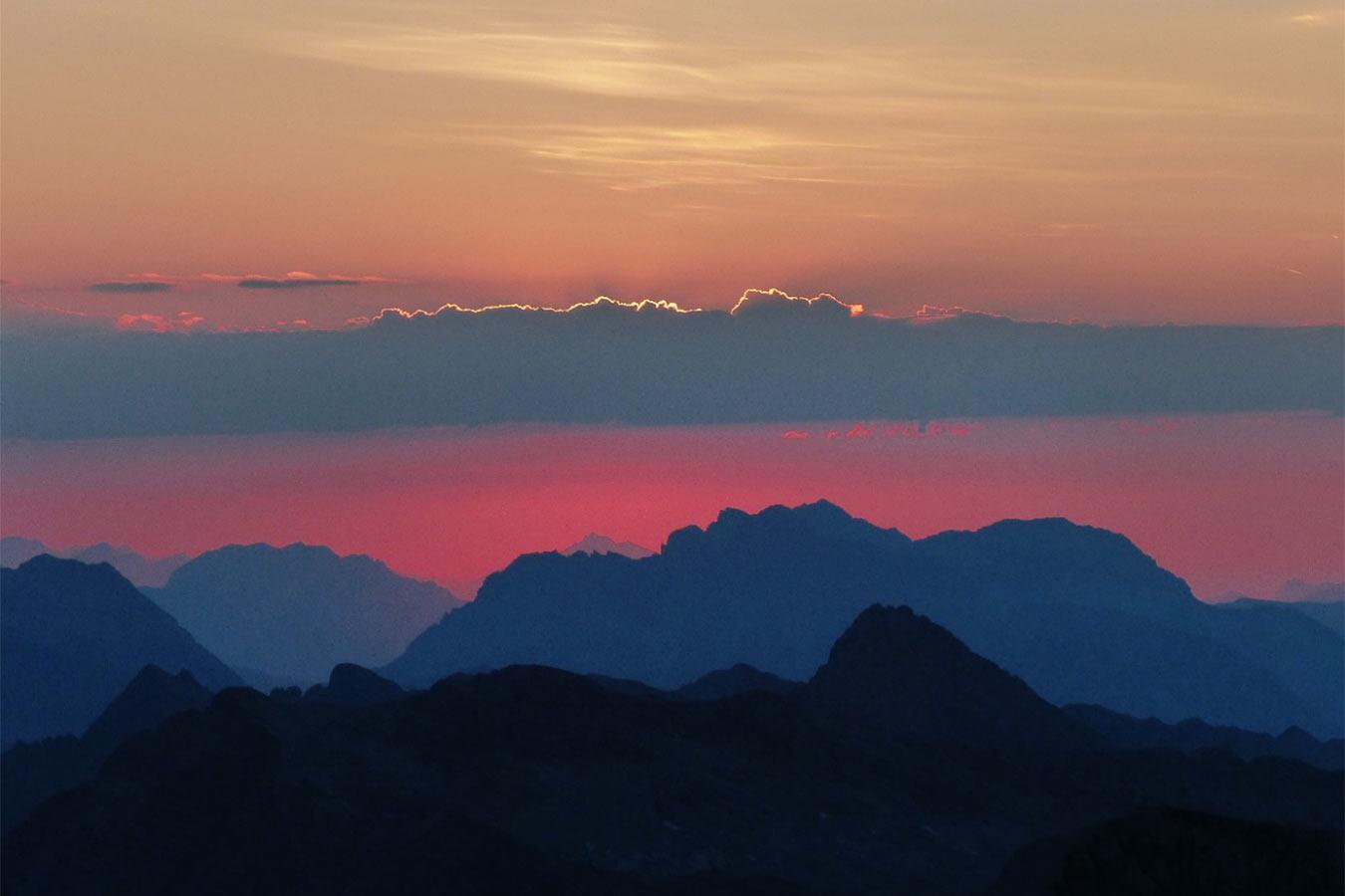 Sonnenuntergang . Hochkönig 2018 (Foto: Klaus Rennert)