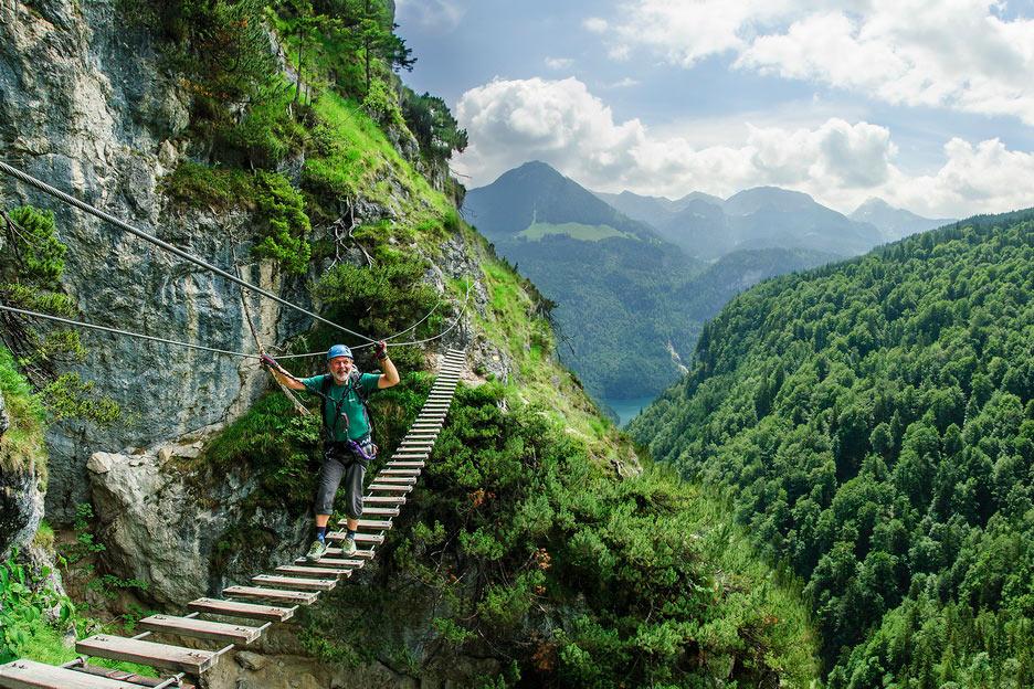 Grünsteinklettersteig . Klettersteige Berchtesgadener Alpen 2018 (Foto: Hartmut Pönitz)