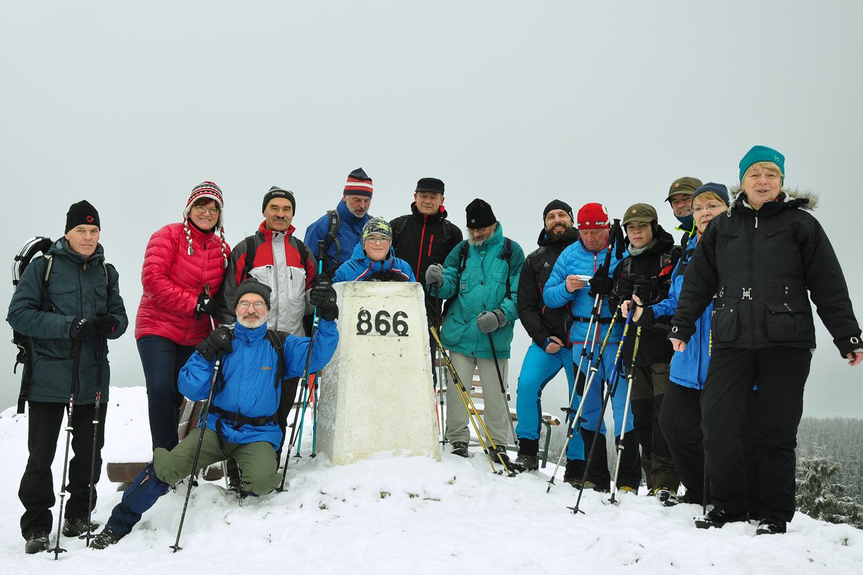 Wintertour zum Ruppberg . Jahresendwanderung 2017 (Foto: Klaus Wahl)