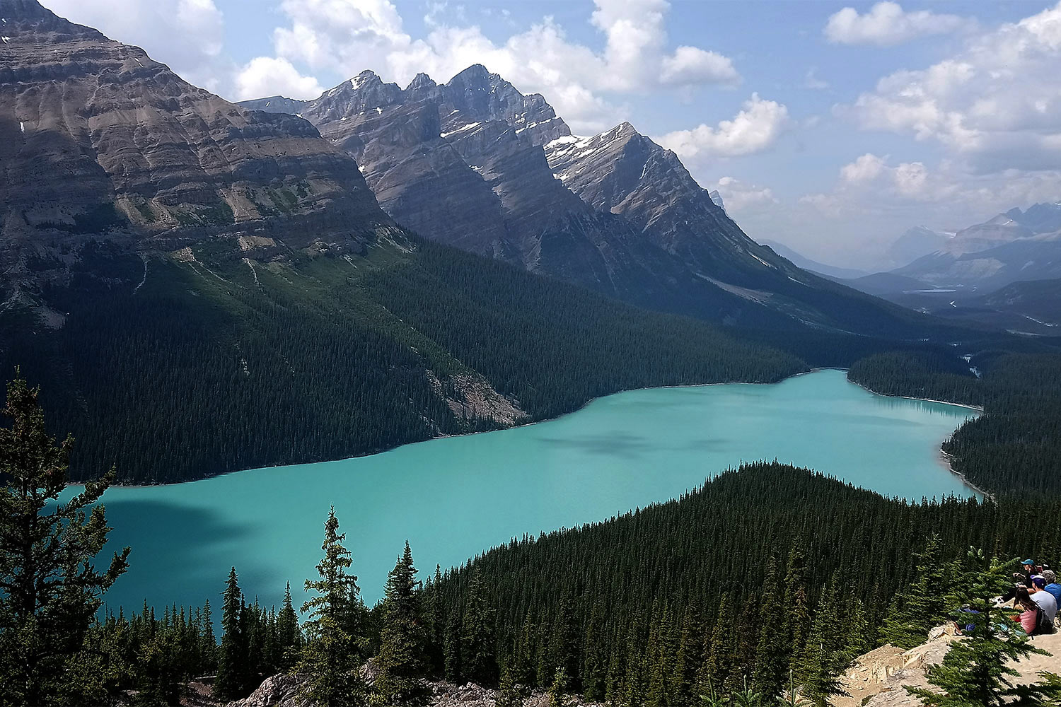 Peyto Lake im Banff Nationalpark . Westkanada 2018 (Foto: Barbara & Jochen Hollandt)
