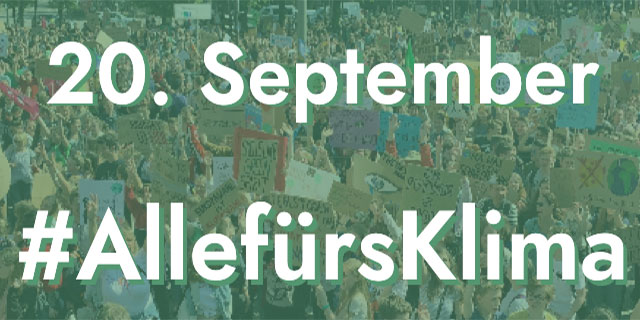 20.09.2019 #AllefürsKlima . Klimaaktion Fridays for Future (Quelle: fridaysforfuture.de)
