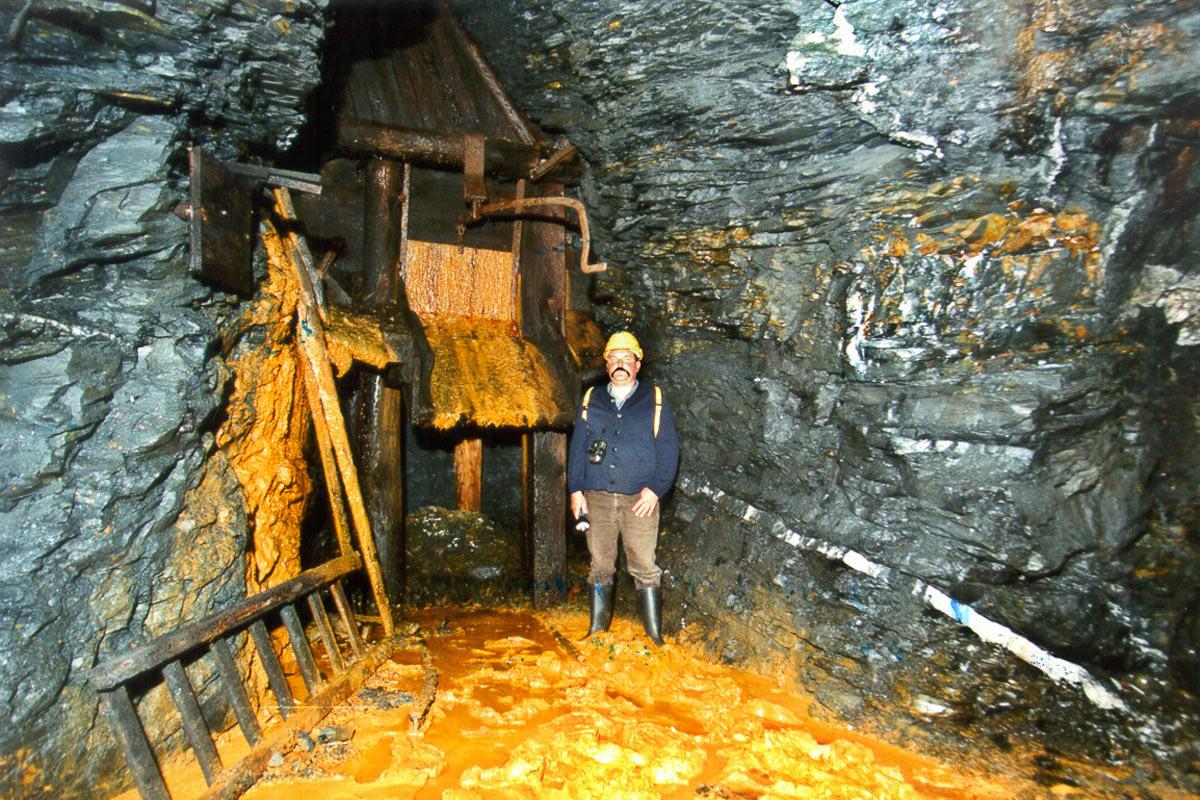 Schiefergrube Lehesten, Sohle 577 m (Foto: Werner Liebeskind, Lehesten)