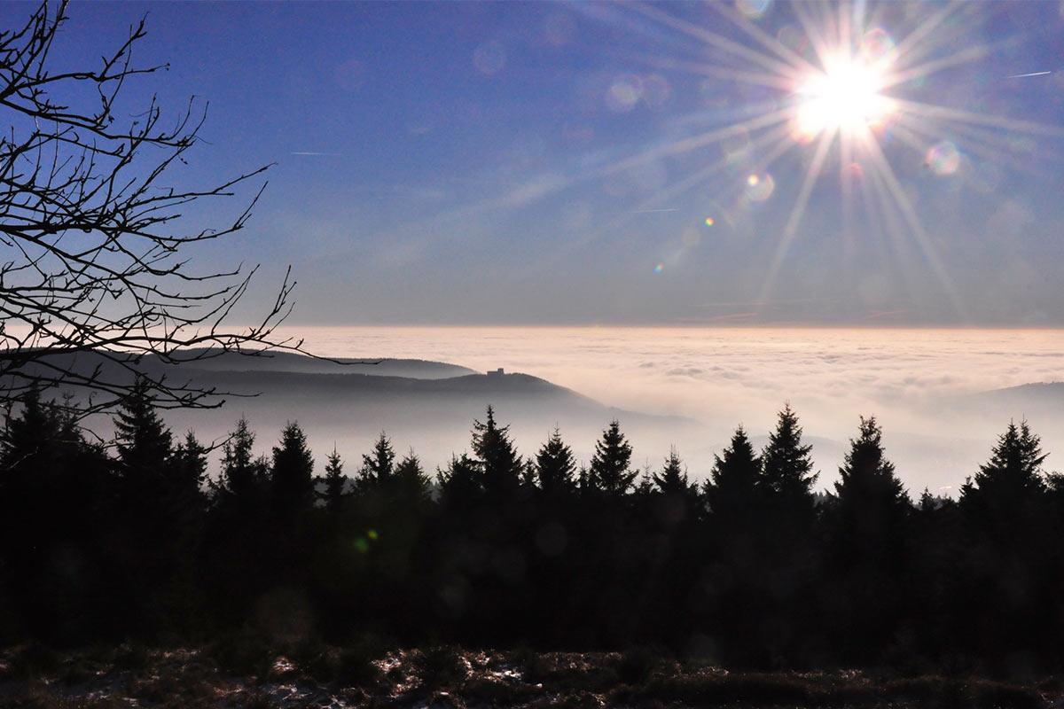 Plänkners Aussicht vom Rennsteig am Großen Beerberg (Foto: Klaus Wahl 2016)